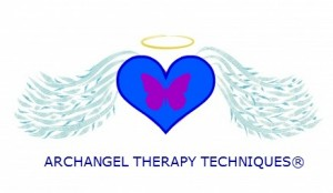 ARCHANGEL THERAPY TECHNIQUES LOGO WITH BUTTERFLY